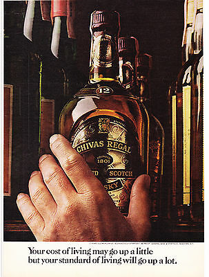 Original Print Ad-1974 CHIVAS REGAL-Your Cost of Living May Go Up A Little…1801