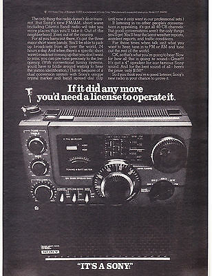 Original Print Ad-1977 SONY ICF 5900W-If it did any more you'd need a license…