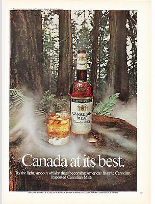 Original Print Ad-1973 CANADIAN MIST-CANADA AT ITS BEST-Vancouver Island, B.C.