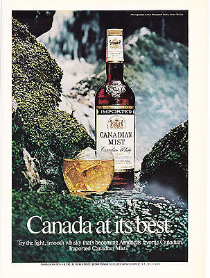 Original Print Ad-1974 CANADIAN MIST-CANADA AT IT'S BEST-Margaree Forks, N.S.