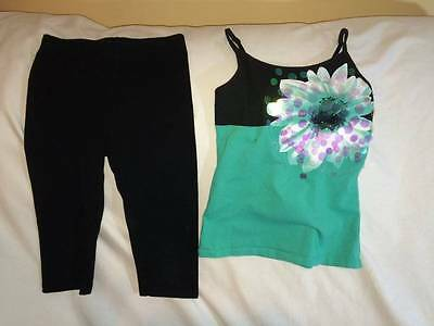 Justice / Circo Girls Size 6 / 7 Leggings / Sparkle Cami Tank Top Outfit