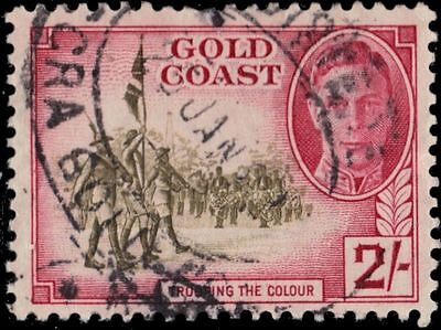 """GOLD COAST 139 (SG144) - King George VI """"Trooping the Colour"""" (pa19040)"""