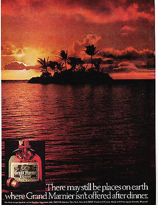 Original Print Ad-1977 Places On Earth Where GRAND MARNIER Isn't Served After…
