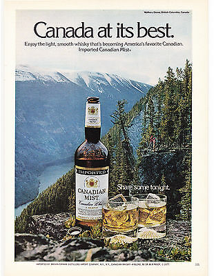 Original Print Ad-1977 CANADIAN MIST-IMG:Walker's Dome, B.C. CANADA AT IT'S BEST