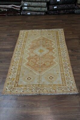 Delightful Light Geometric Shiraz Persian Rug Wool Oriental Area Carpet Sale 5X8