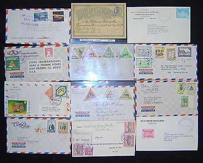 Costa Rica Lot of 80 Postal History Covers.
