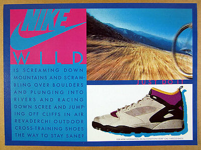 1992 Nike Air Revaderchi Outdoor Cross-Training Shoes photo vintage print Ad
