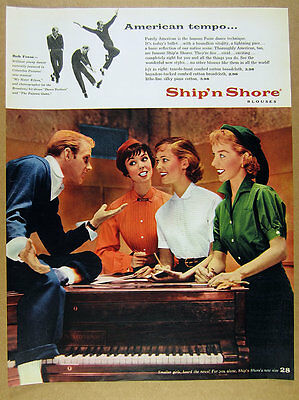 1955 Bob Fosse photo Ship'n Shore Blouses 50s fashion vintage print Ad