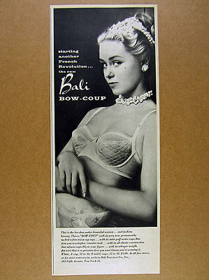 1955 Bali Bow-Coup Bra sultry woman photo vintage print Ad