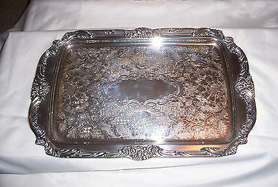 Vintage Reed & Barton King Francis 1646 Rectangular Serving Tray Silverplate