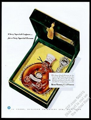 1949 Remy Martin Louis XIII cognac bottle and box photo vintage print ad