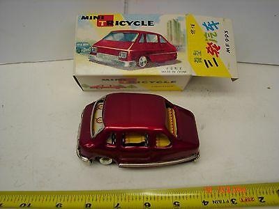 Tin Toy Friction Car Mini Tricycle Three Wheel Car Reproduction