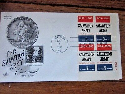 Salvation Army Founder General William Booth 1965 Plate#block Fdc