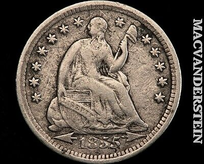 1857 Seated Liberty Half Dime- Very Fine !! Better Date !! #q3669