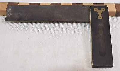 "Vintage 7-1/2"" Stanley No. 20 Plated Try Square (INV A829)"