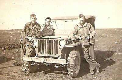 WWII Original US Army RP- ETO- Italy- Soldier- Officer- Named- Jeep- 1944