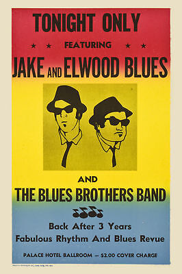 MUST SEE: The Blues Brothers Concert Poster  Circa 1980