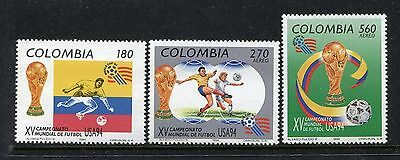 Colombia 1097-1099, MNH, World Cup Soccer Championship. 1994. x23404