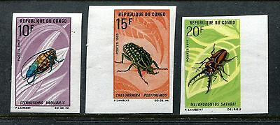 Congo 226-228, MNH, Insects beetles 1970. x25026