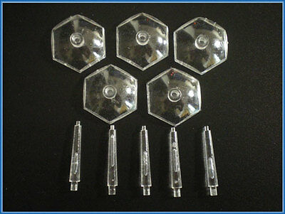 5 x Warhammer 40k Small Hexagon CLEAR FLYING BASE / STAND
