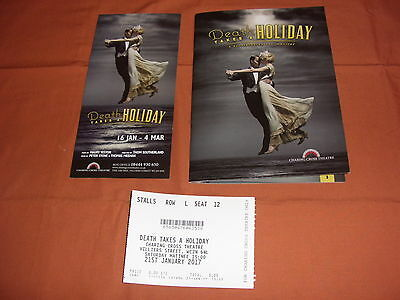 DEATH TAKES A HOLIDAY the Musical  Original 2017 WEST END Theatre Programme