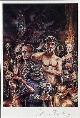CLIVE BARKER Signed Print - Horror Author / Writer / Literature - Preprint