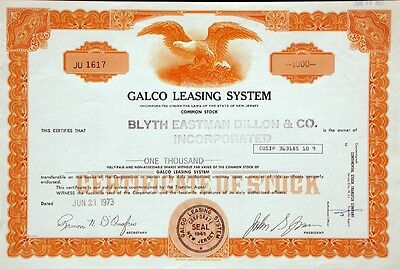 Galco Leasing System - 1973
