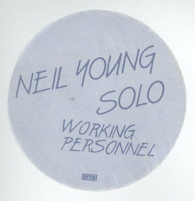 ORIGINAL Neil Young 1983 Solo Trans Tour WORKING PERSONNEL Blue Backstage Pass!