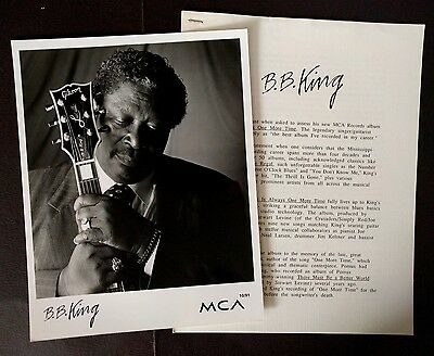 RARE BB King Press Kit for There Is Always One More Time! Photo N97