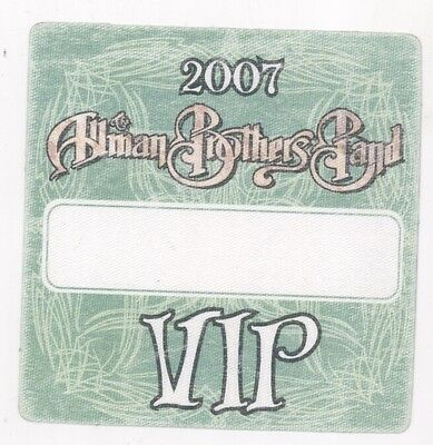 COOL The Allman Brothers 2007 VIP Triangular Backstage Pass!
