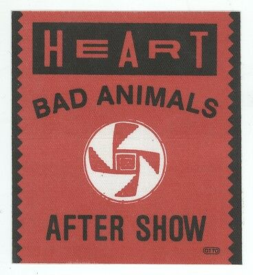 HEART Bad Animals Tour AFTER SHOW Backstage Pass!