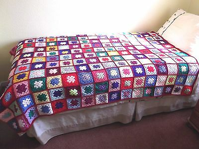 Hand Crochet Blanket/Throw - 168 x 128 cm (64 x 50 Inches)