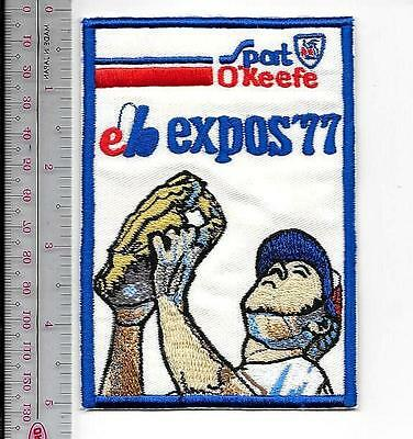 Beer Baseball Montreal Expos & O'Keefe Beer 1977 National League Promo Patch