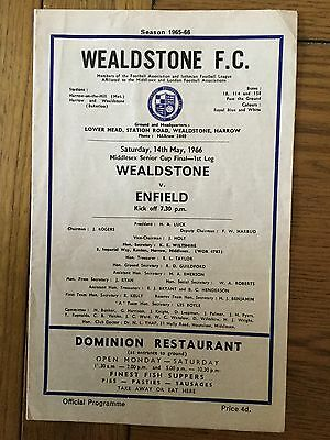 WEALDSTONE  v. ENFIELD  ( MSC Final ) 1965/6.
