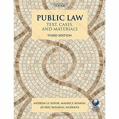 Public Law Text, Cases, and Materials 3/e - Paperback NEW Andrew Le Sueur 19/05/