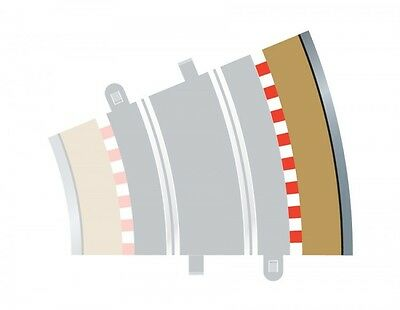 Four Scalextric Outer Barriers For Radius 3 Curves C8224, 22.5 Degrees Each