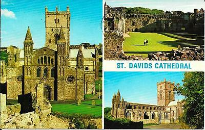 St. David's Cathedral, Pembrokeshire -Posted Postcard