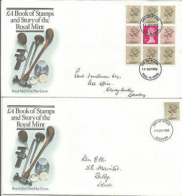 Gb Fdc 1983 £4.00 Book Of Stamps-Story Of The Royal Mint-2 Covers