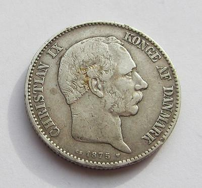 Denmark 2 Kroner dated 1875 CS - Nice collectable coin