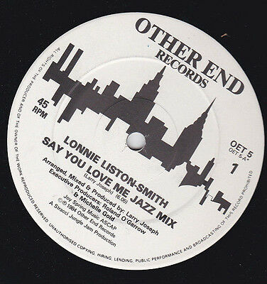 "Lonnie Liston-Smith * Say You Love Me (Jazz / Dance Mixes) 12"" Vinyl Oet 5"