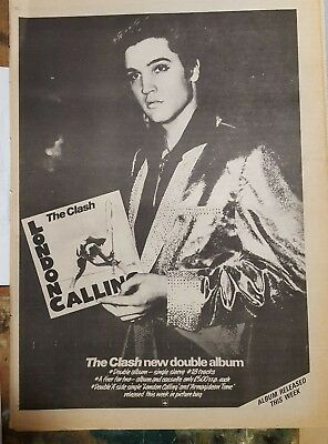 The Clash London Calling  1979 press advert Full page 30 x 42 cm mini poster