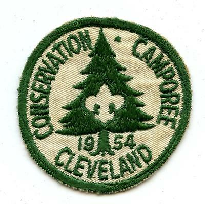 1954 CLEVELAND CONSERVATION CAMPOREE OH Ohio  bsa BOY SCOUT Patch