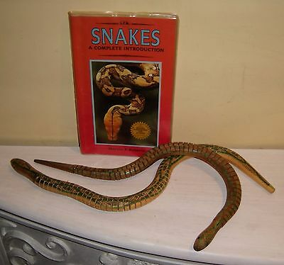 SNAKE Toy Models Guide Book LOT wood wooden flexible snakes vintage