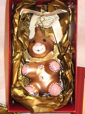 $45 Waterford Christmas Ornament   Holiday Treasures  Gingerbread Teddy