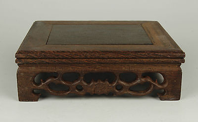 Superb China Collectible Old Handwork Carved Precious Wenge Base