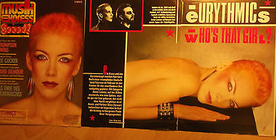 3 german clipping EURYTHMICS ANNIE LENNOX N. SHIRTLESS GIRL BOY BAND BOYS GROUP