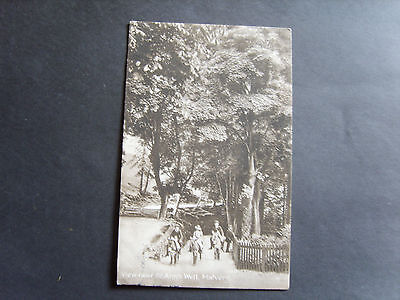Worcestershire: People On Donkeys Near St. Ann's Well, Malvern - Posted 1918