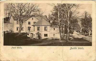 Park Wells, Builth Wells- Posted postcard 1904