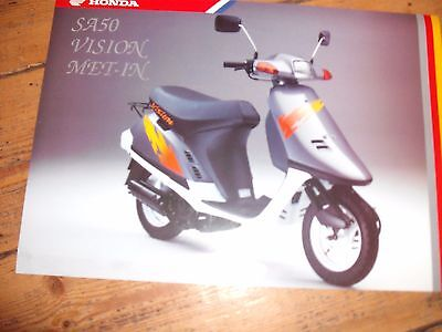 Honda Sa50 Vision Met-In Moped 1994 Brochure Redhill Motors Brighton