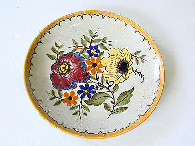 vintage Gouda Royal Zuid Holland Pottery PLATE 2850 Bektino Floral